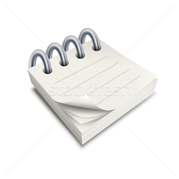 Wektora notatnika ilustracja farbują elementy Zdjęcia stock © sgursozlu