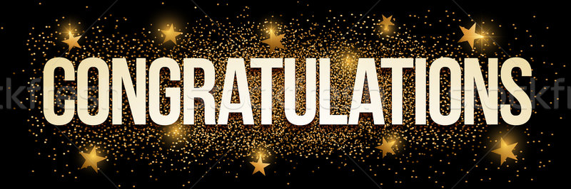Congratulations golden glitter background banner. Stock photo © sgursozlu