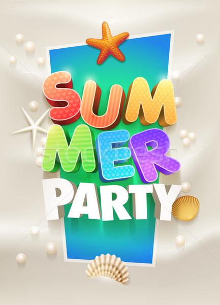 Verão festa cartaz modelo de design elementos Foto stock © sgursozlu