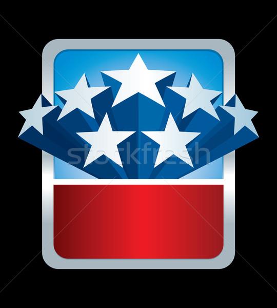 Gwiazdki banner wektora 3D strony banderą Zdjęcia stock © sgursozlu