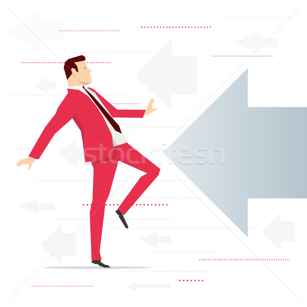 Red suit businessman threat Stock photo © sgursozlu