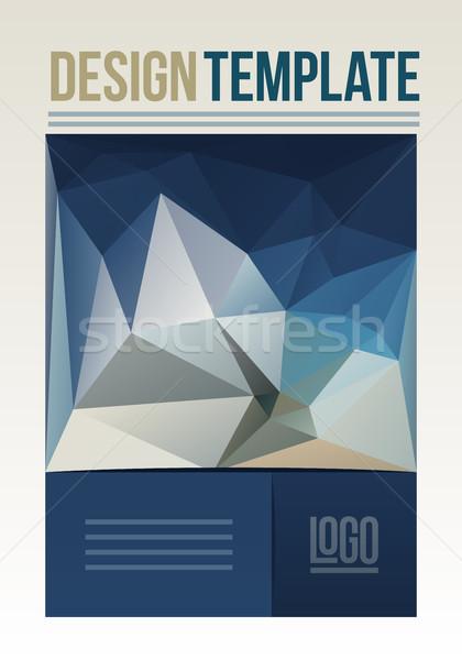 Flyer ontwerpsjabloon business brochure dekken abstract Stockfoto © sgursozlu