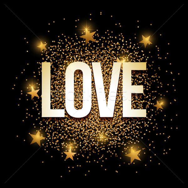 любви блеск баннер золото Элементы Сток-фото © sgursozlu