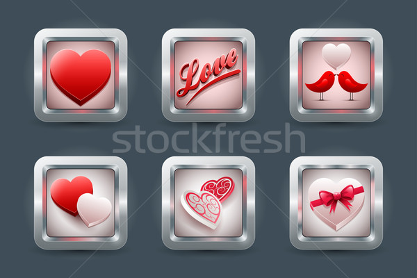 Love icon Set Stock photo © sgursozlu