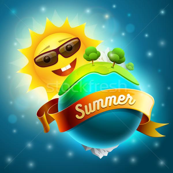 Foto stock: Sol · mundo · verde · verão · natureza · elementos