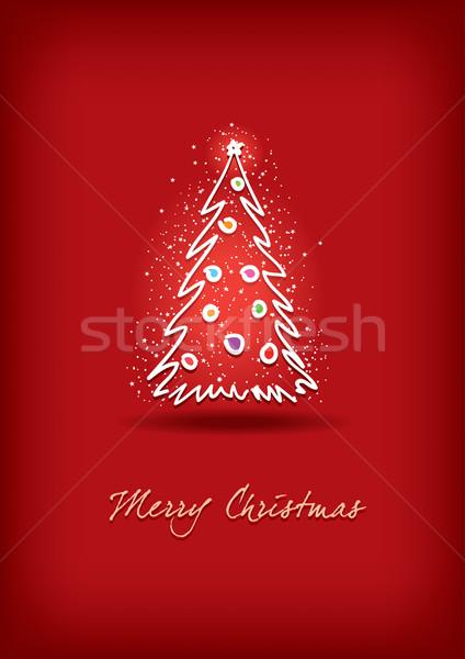 Christmas tree card Stock photo © sgursozlu