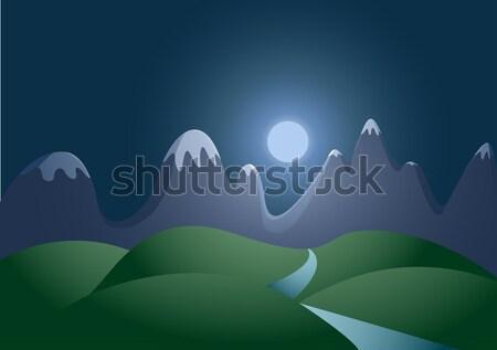 night landscape Stock photo © sgursozlu