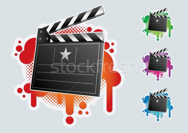 Clapboard symbol set. Stock photo © sgursozlu