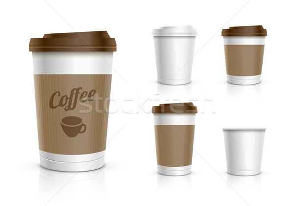 Disposable Cup Set Stock photo © sgursozlu