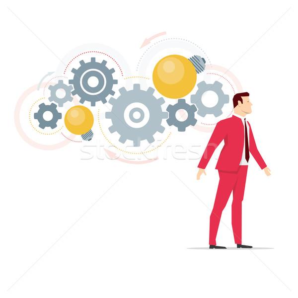 Vermelho terno empresário negócio idéias e Foto stock © sgursozlu