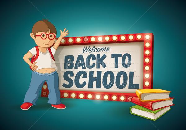 Back to School light sign Stock photo © sgursozlu
