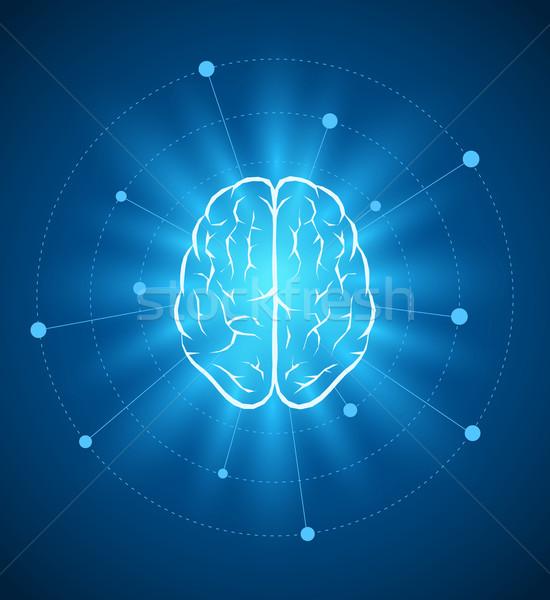 Cerveau design vecteur modèle de conception Photo stock © sgursozlu