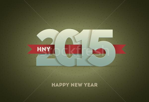 2015 boldog új évet vektor üdvözlőlap dizájn elem boldog Stock fotó © sgursozlu
