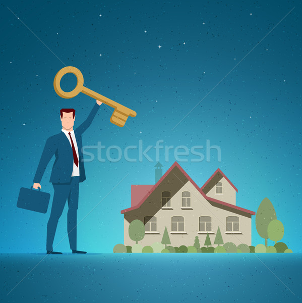 Real Estate concept vector illustration Stock photo © sgursozlu