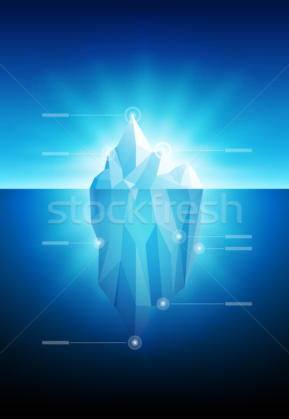 Icebergue vetor modelo de design elementos Foto stock © sgursozlu
