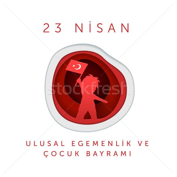 April 23 Turkish National Sovereignty and Children Day Stock photo © sgursozlu