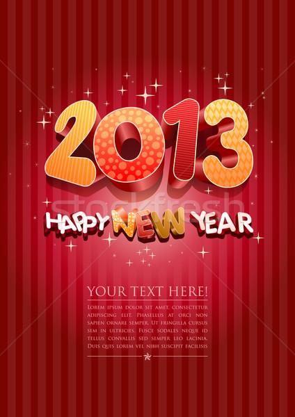 Boldog új évet 2013 új év design sablon összes elemek Stock fotó © sgursozlu