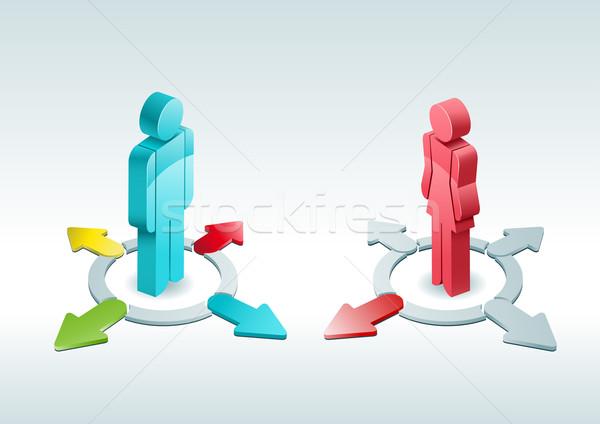 Fácil 3D vetor homem mulher Foto stock © sgursozlu