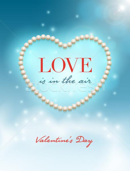 Szeretet levegő vektor design sablon valentin nap elemek Stock fotó © sgursozlu