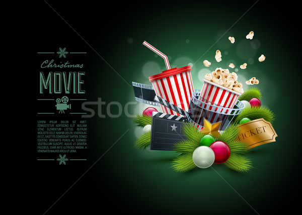 Christmas Movie concept Stock photo © sgursozlu