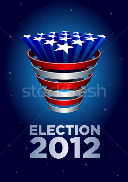 Estrelas monte americano eleição 2012 elementos Foto stock © sgursozlu