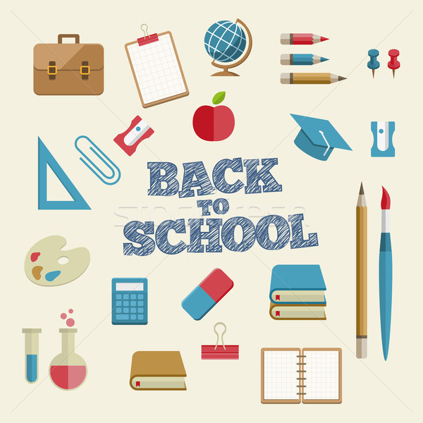 Educação material escolar vetor papel escolas Foto stock © sgursozlu