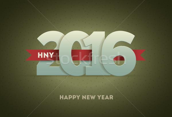 2016 feliz año nuevo vector tarjeta de felicitación feliz Foto stock © sgursozlu