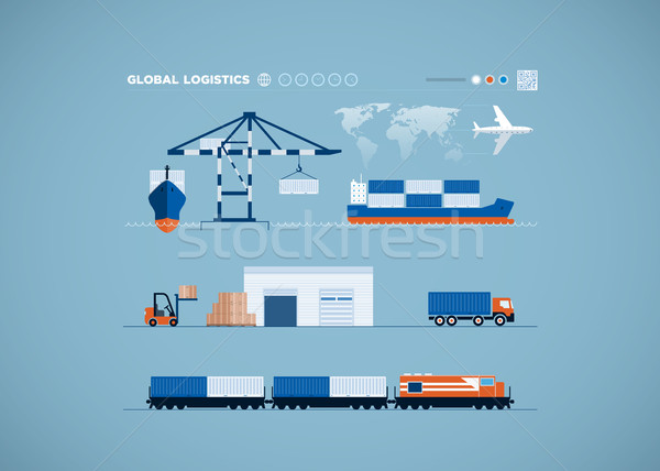 Global Transportation Concept Stock photo © sgursozlu