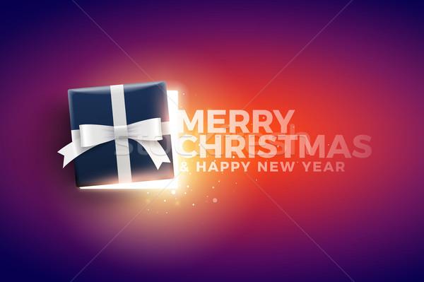 Christmas Gift Box with magical lights Stock photo © sgursozlu