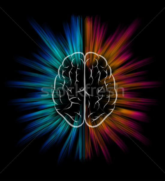 Brain explosion. Stock photo © sgursozlu