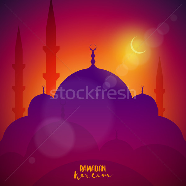 мечети Элементы отдельно вектора файла Сток-фото © sgursozlu