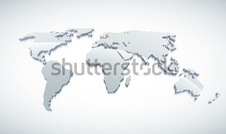 3d World Map Stock photo © sgursozlu