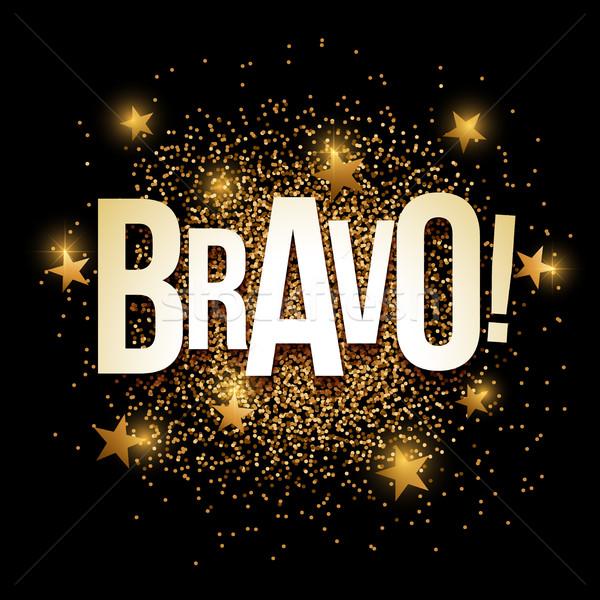 Bravo golden glitter background banner. Stock photo © sgursozlu