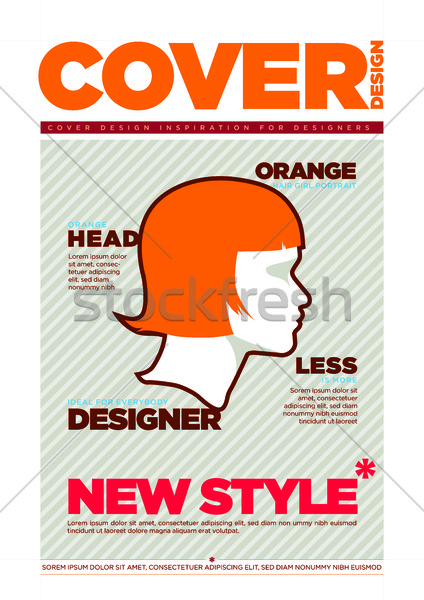 Magazine Cover Design Template Stock photo © sgursozlu
