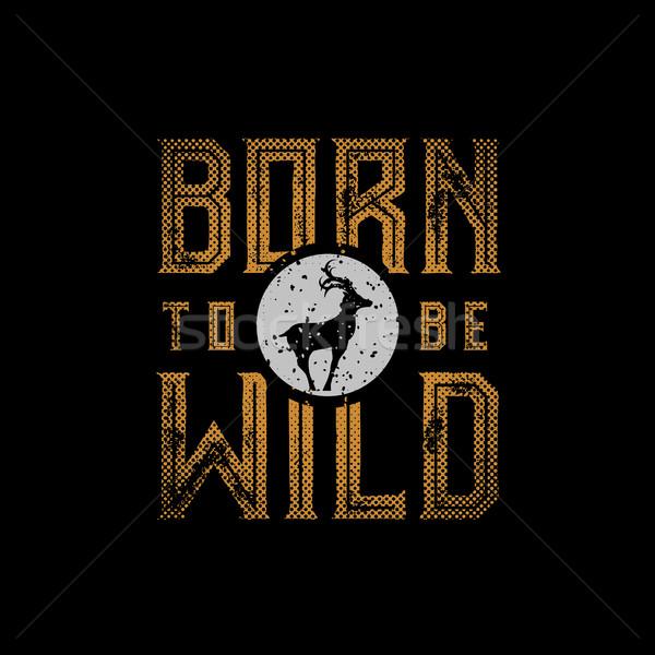 Doğmuş dizayn tshirt baskı Stok fotoğraf © sgursozlu