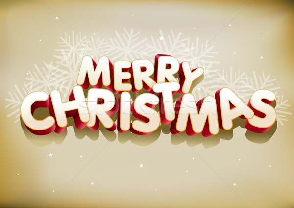 Merry Christmas 3D Stock photo © sgursozlu