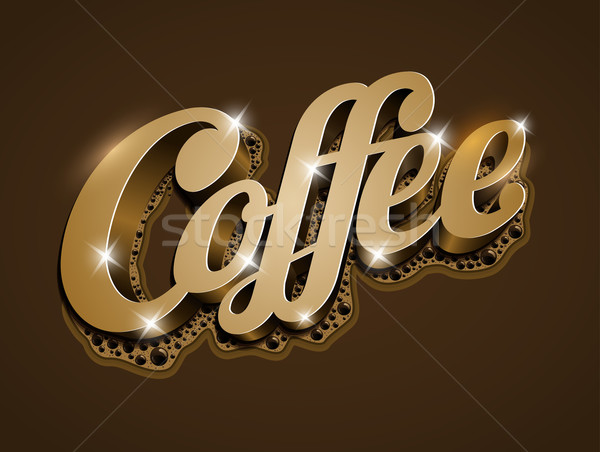 Koffie vector tekst alle communie Stockfoto © sgursozlu