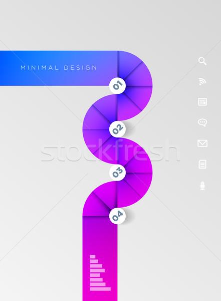 Foto stock: Círculo · forma · modelo · de · design · vetor · abstrato