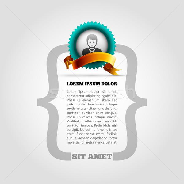 Page design layout Stock photo © sgursozlu