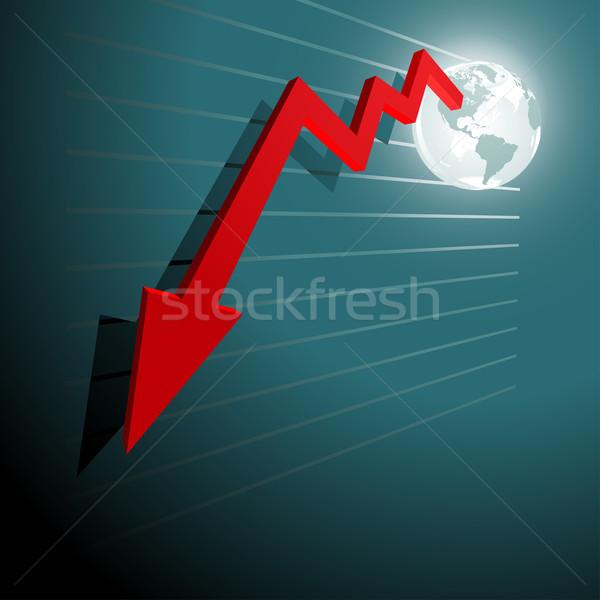 Moving down chart Stock photo © sgursozlu