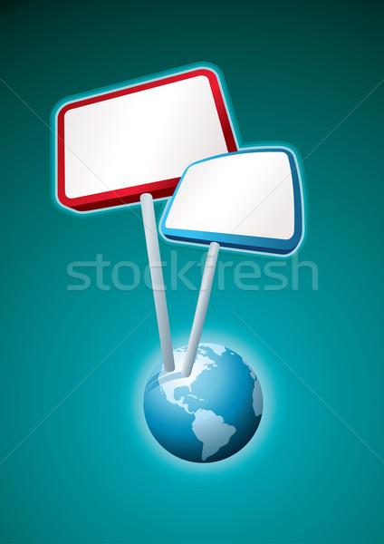 globe placard Stock photo © sgursozlu