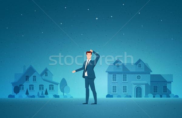 Imóveis negócio investimento escolha elementos Foto stock © sgursozlu
