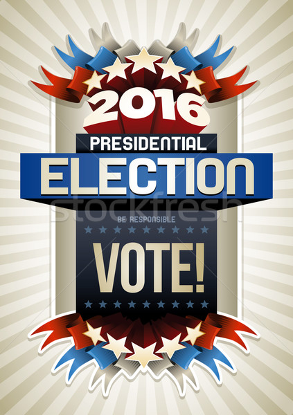 2016 Election Poster Stock photo © sgursozlu