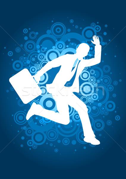 Vai imprenditore jumping gioia boss Foto d'archivio © sgursozlu