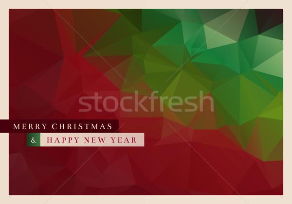 Polígono natal cartão vetor projeto abstrato Foto stock © sgursozlu