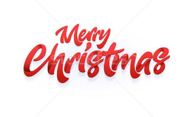Merry Christmas and Happy New Year typography Stock photo © sgursozlu