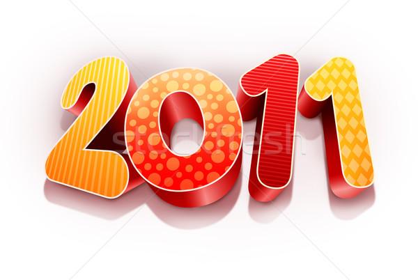 Rok 2011 wysoki jakości tekst Zdjęcia stock © sgursozlu
