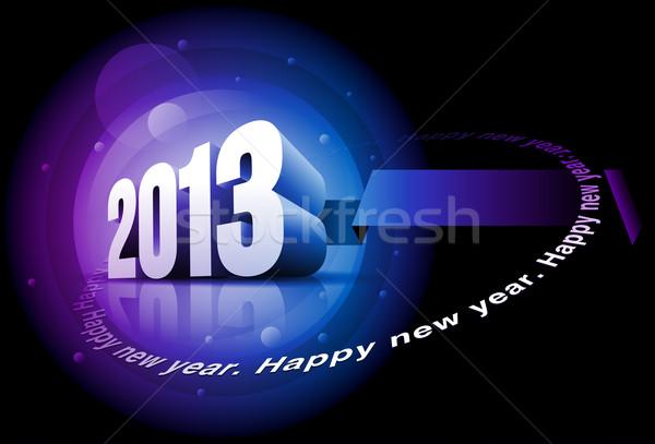 Boldog új évet 2013 vektor 3D szöveg elemek Stock fotó © sgursozlu