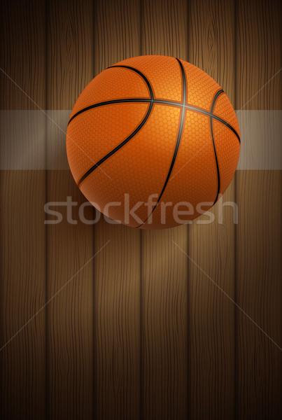 Basketball ball on floor Stock photo © sgursozlu
