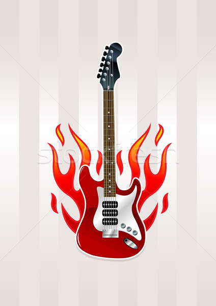 Burning guitar Stock photo © sgursozlu